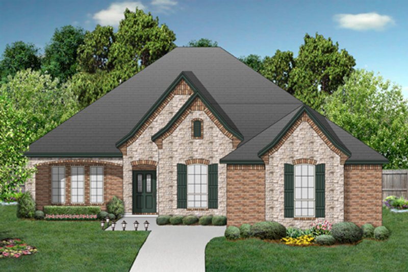 European Exterior - Front Elevation Plan #84-568