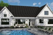 Farmhouse Style House Plan - 4 Beds 3.5 Baths 2751 Sq/Ft Plan #51-1140 Exterior - Rear Elevation