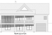 Country Style House Plan - 2 Beds 2.5 Baths 1500 Sq/Ft Plan #932-361 Exterior - Rear Elevation