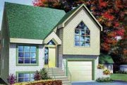 European Style House Plan - 3 Beds 2 Baths 1345 Sq/Ft Plan #25-3019 Exterior - Front Elevation