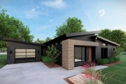 Contemporary Style House Plan - 3 Beds 2 Baths 1131 Sq/Ft Plan #923-166 Exterior - Other Elevation