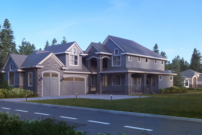 Traditional Exterior - Front Elevation Plan #1066-19