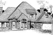 European Style House Plan - 4 Beds 3.5 Baths 3113 Sq/Ft Plan #310-111 Exterior - Front Elevation
