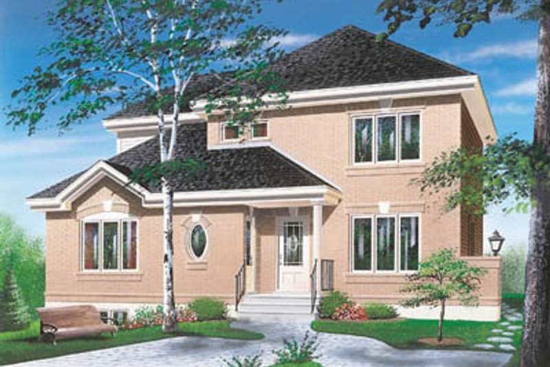 Exterior - Front Elevation Plan #23-2150