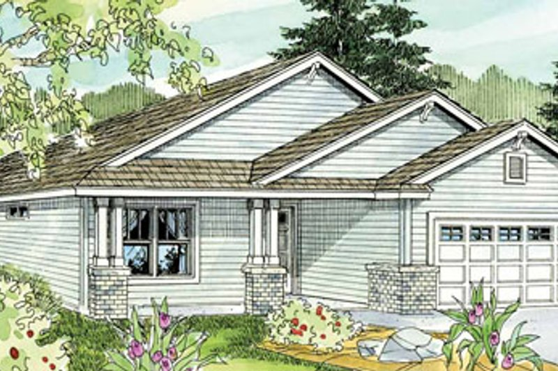 Dream House Plan - Craftsman Exterior - Front Elevation Plan #124-763