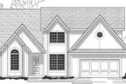Traditional Style House Plan - 4 Beds 3.5 Baths 2575 Sq/Ft Plan #67-529 Exterior - Front Elevation