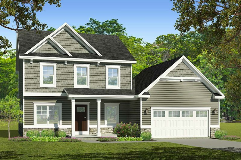Architectural House Design - Traditional Exterior - Front Elevation Plan #1010-220
