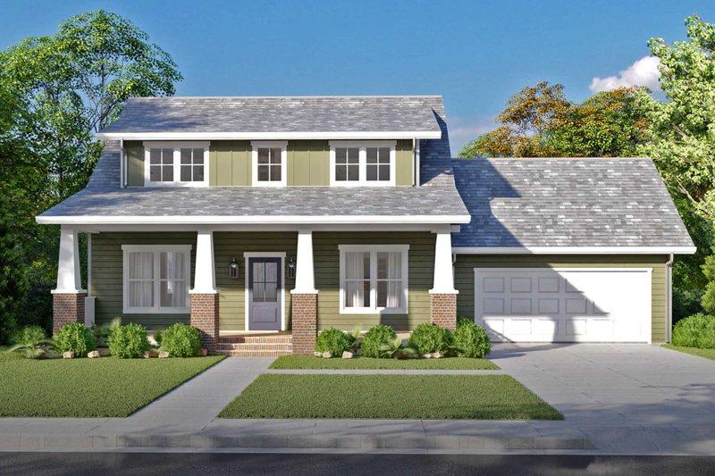 Architectural House Design - Craftsman Exterior - Front Elevation Plan #1079-2