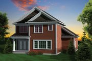 Craftsman Style House Plan - 3 Beds 2.5 Baths 1612 Sq/Ft Plan #70-1043 Exterior - Rear Elevation