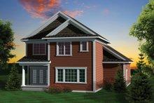 Craftsman Exterior - Rear Elevation Plan #70-1043