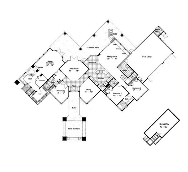 European Floor Plan - Main Floor Plan #417-374