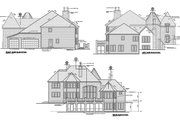 European Style House Plan - 4 Beds 3.5 Baths 4435 Sq/Ft Plan #20-2301 Exterior - Other Elevation