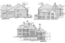 House Plan Design - Rear, Right & Left Elevations