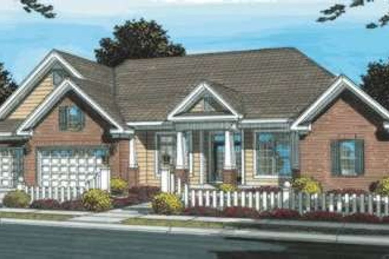 Dream House Plan - Traditional Exterior - Front Elevation Plan #20-1833