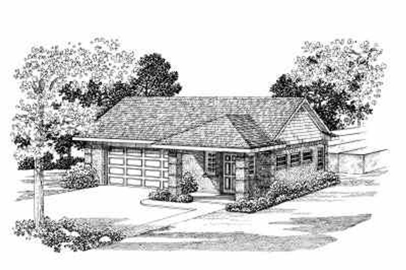 House Blueprint - Traditional Exterior - Front Elevation Plan #72-267