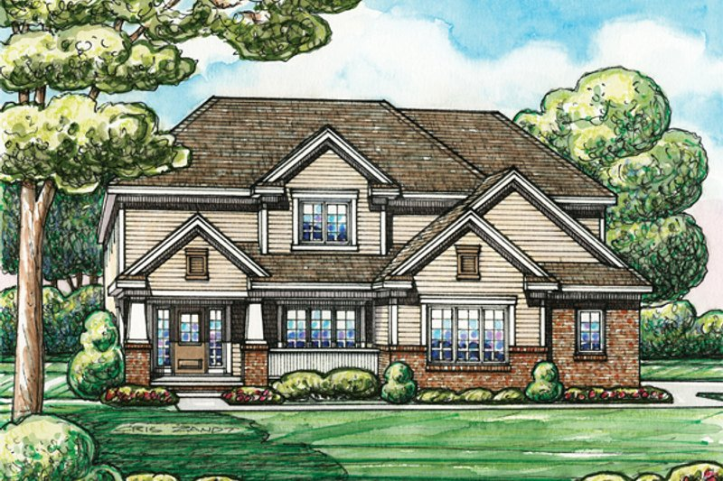 Home Plan - Traditional Exterior - Front Elevation Plan #20-2153