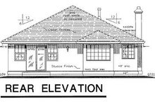House Blueprint - Ranch Exterior - Rear Elevation Plan #18-136