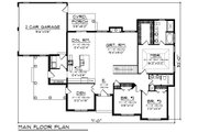 Craftsman Style House Plan - 3 Beds 2 Baths 1958 Sq/Ft Plan #70-1493 Floor Plan - Main Floor Plan