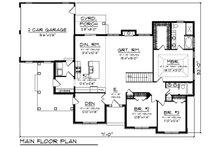 Craftsman Floor Plan - Main Floor Plan Plan #70-1493
