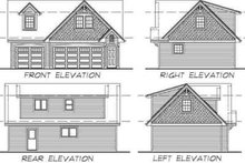 Cottage Exterior - Rear Elevation Plan #47-514