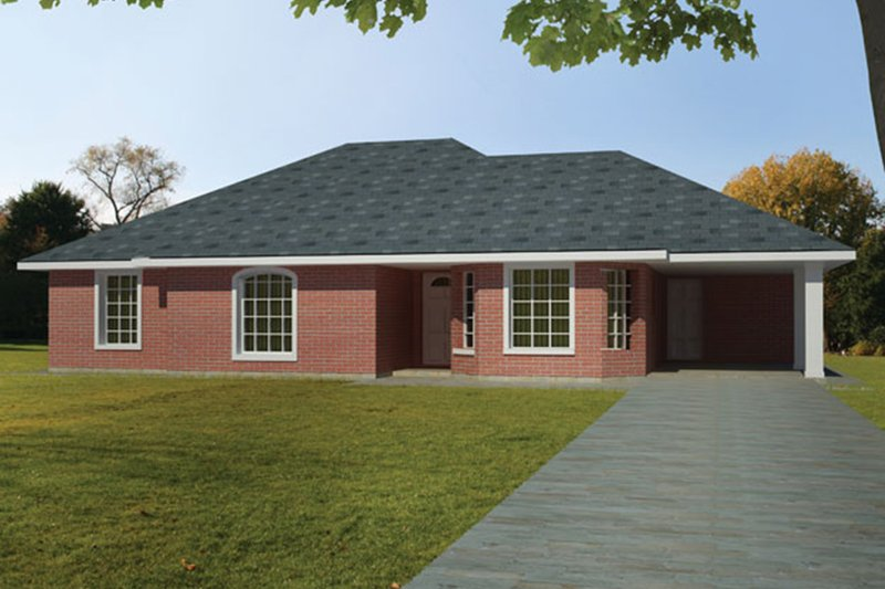 Dream House Plan - Ranch Exterior - Front Elevation Plan #1061-29