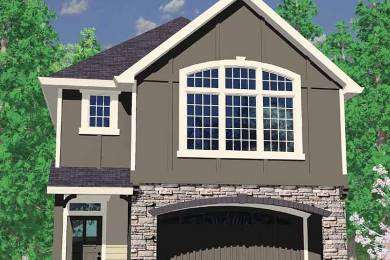 Craftsman Exterior - Front Elevation Plan #509-194 - Houseplans.com