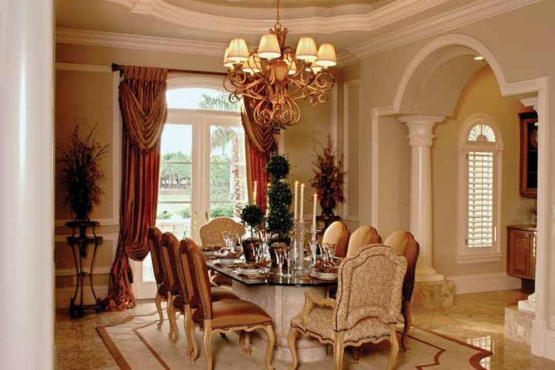 Mediterranean Interior - Dining Room Plan #1017-1 - Houseplans.com