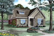 European Style House Plan - 3 Beds 2 Baths 1923 Sq/Ft Plan #17-2192 Exterior - Front Elevation