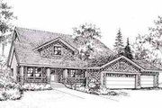 Craftsman Style House Plan - 4 Beds 2 Baths 1795 Sq/Ft Plan #78-111 Exterior - Front Elevation