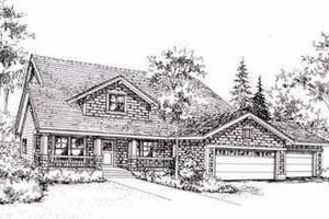 Craftsman Exterior - Front Elevation Plan #78-111