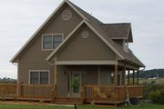 Country Style House Plan - 2 Beds 2 Baths 1333 Sq/Ft Plan #118-106 Exterior - Front Elevation
