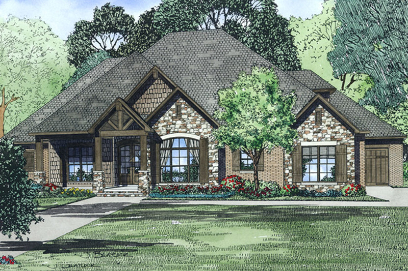 Craftsman Exterior - Front Elevation Plan #17-3391 - Houseplans.com
