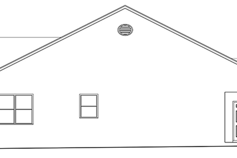 Ranch Exterior - Other Elevation Plan #1058-138 - Houseplans.com