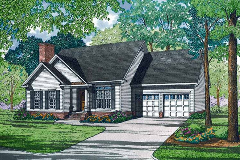 Dream House Plan - Ranch Exterior - Front Elevation Plan #17-3131