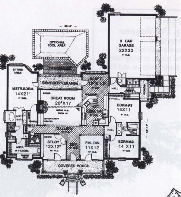 Traditional Floor Plan - Main Floor Plan #310-829