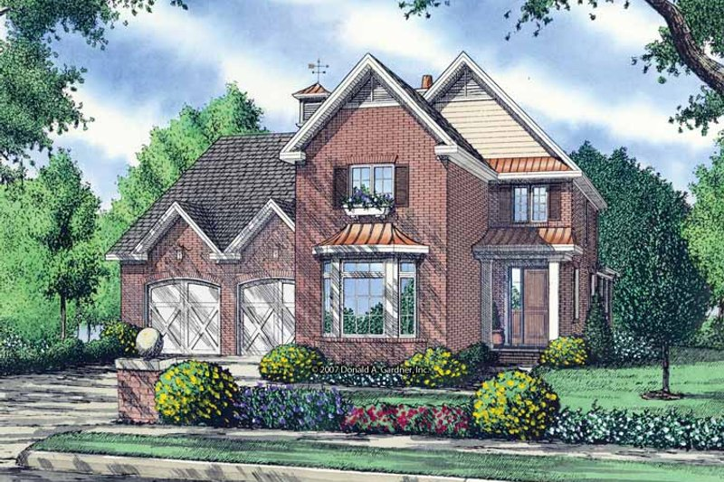 Dream House Plan - Contemporary Exterior - Front Elevation Plan #929-845