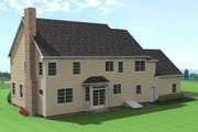 Colonial Style House Plan - 3 Beds 3 Baths 2863 Sq/Ft Plan #75-111 Exterior - Rear Elevation