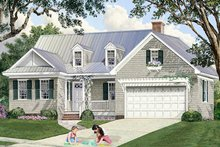 Home Plan - Country Exterior - Front Elevation Plan #137-372