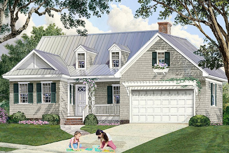 Country Exterior - Front Elevation Plan #137-372 - Houseplans.com