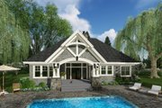 Craftsman Style House Plan - 3 Beds 2.5 Baths 2300 Sq/Ft Plan #51-584 Exterior - Rear Elevation