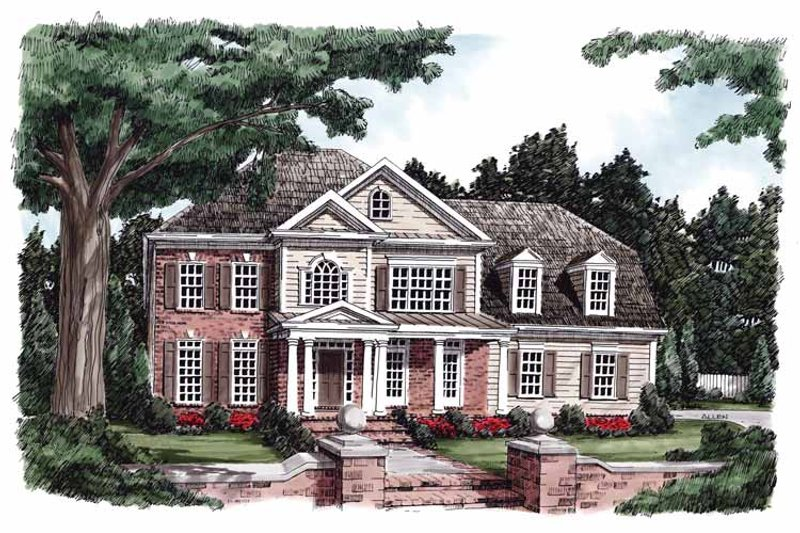 Classical Exterior - Front Elevation Plan #927-580