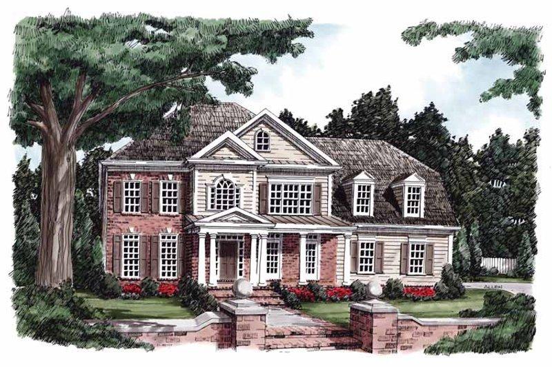 Classical Exterior - Front Elevation Plan #927-580 - Houseplans.com