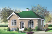 European Style House Plan - 3 Beds 1 Baths 1014 Sq/Ft Plan #25-165 Exterior - Front Elevation