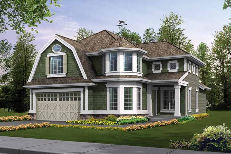 Craftsman Exterior - Front Elevation Plan #132-316 - Houseplans.com