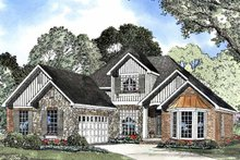 Architectural House Design - Country Exterior - Front Elevation Plan #17-3067