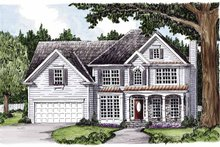 Home Plan - Colonial Exterior - Front Elevation Plan #927-355