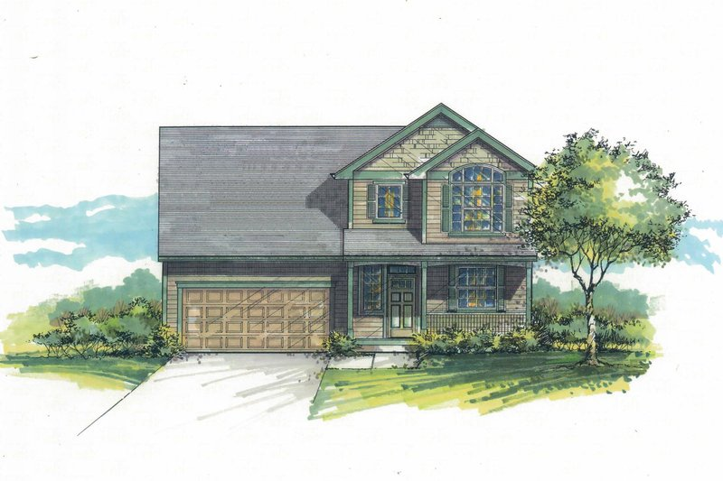 Craftsman Exterior - Front Elevation Plan #53-597