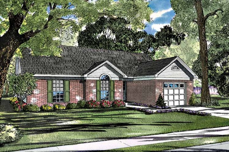 Ranch Exterior - Front Elevation Plan #17-2983