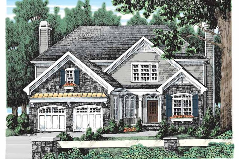 Country Exterior - Front Elevation Plan #927-903