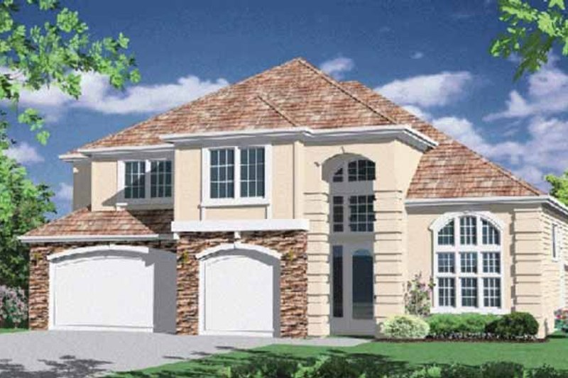 Traditional Exterior - Front Elevation Plan #509-368 - Houseplans.com